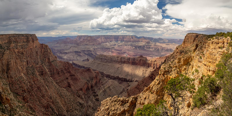 Nationalpark Grand Canyon s, Südkante, Arizona/Nevada, USA: [Schluchtpanoramablicke, der Colorado lizenzfreie stockfotos
