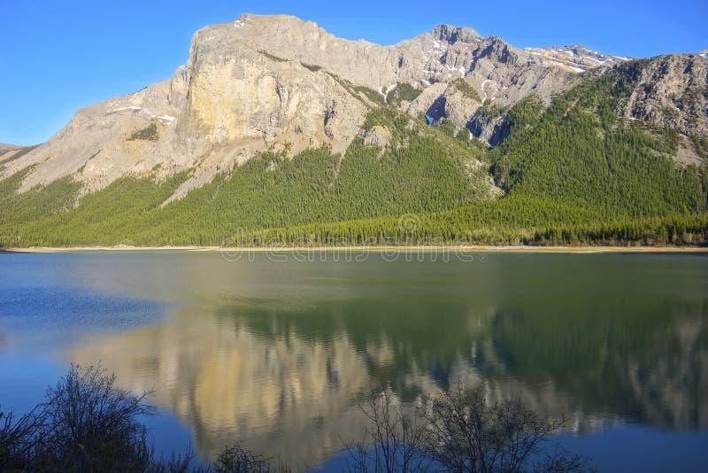 Nationalpark-Kanadier Rocky Mountains dritter Ghost See-szenischer Landschafts-Banffs lizenzfreie stockbilder