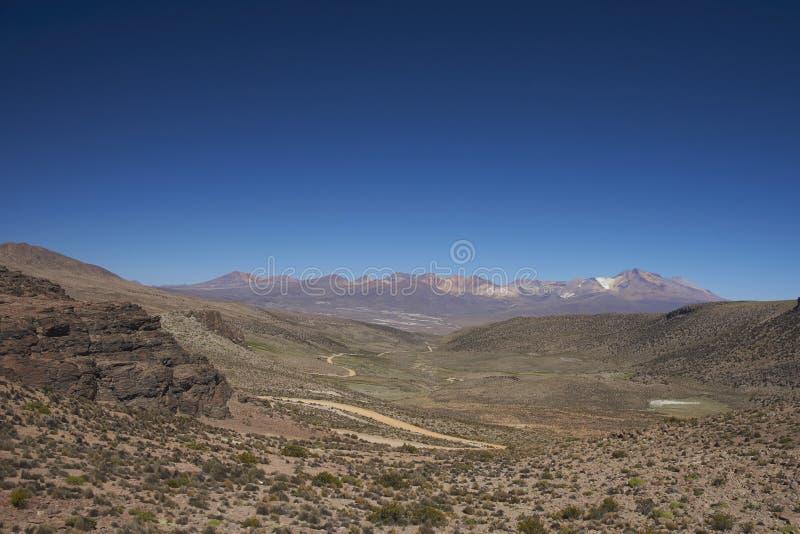 Nationalpark Lauca auf dem Altiplano von Nord-Chile stockfotografie
