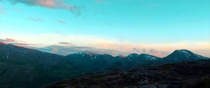 Nationalpark Lomsdal-Visten ist ein norwegischer Nationalpark stockbilder
