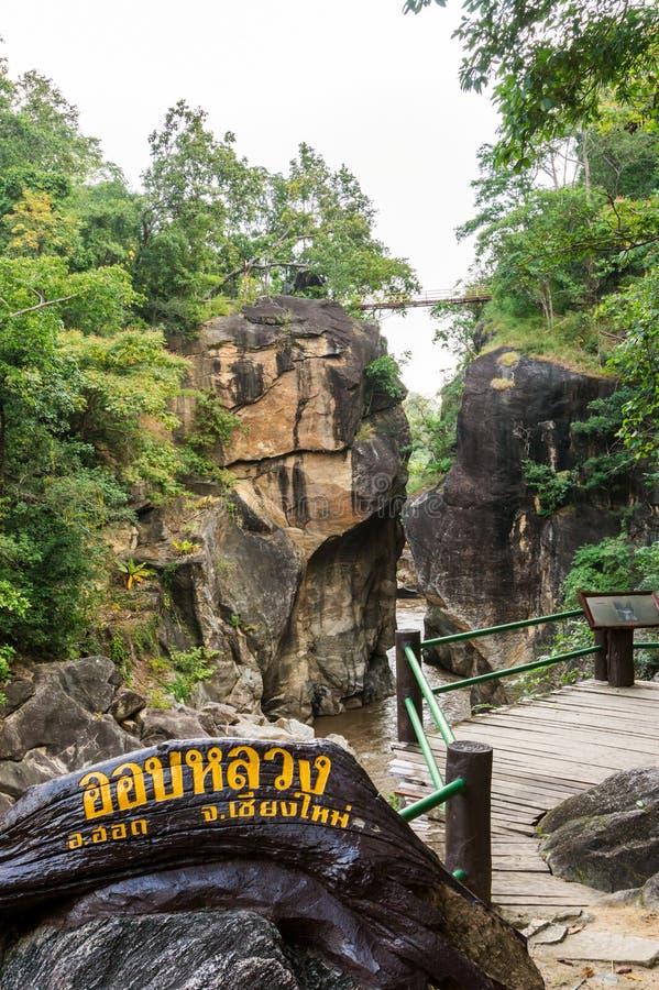 Nationalpark Ob Luang in Thailand lizenzfreie stockbilder