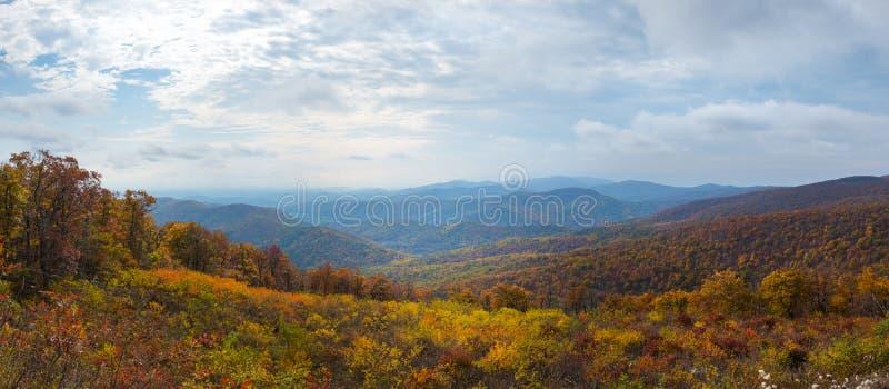 Nationalpark-Panorama Shenandoah stockfotos