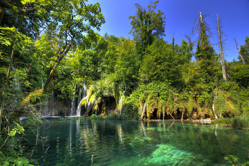 Nationalpark Plitvice stockfotos