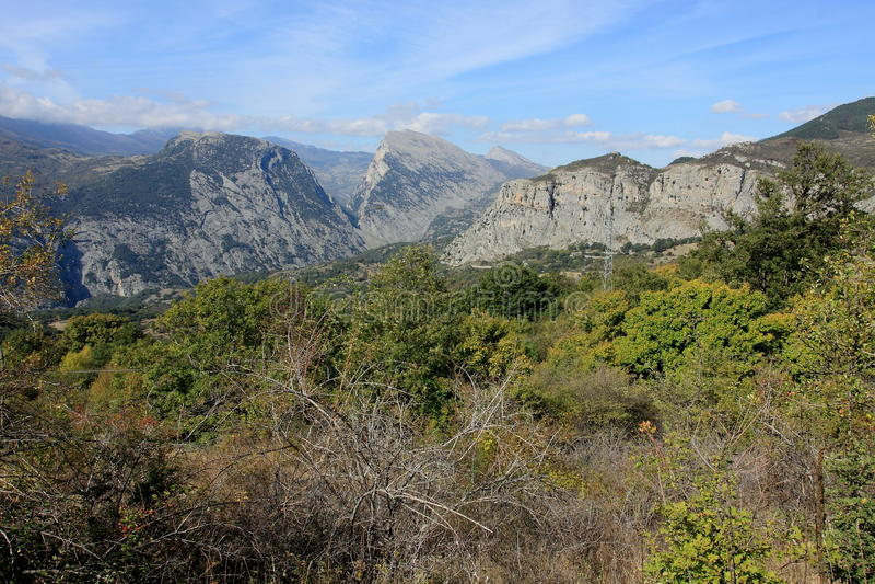 Nationalpark Pollino i Calabria Italien arkivbilder