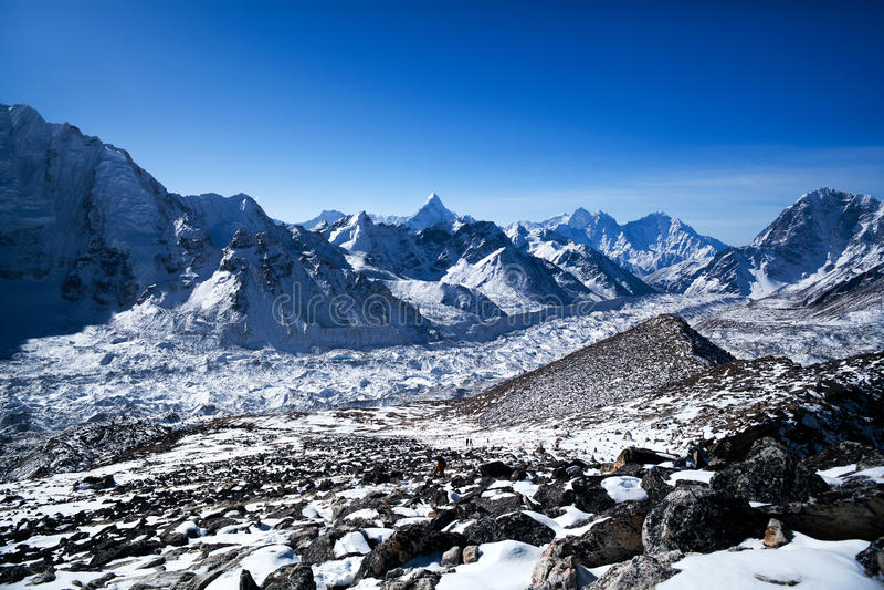 Nationalpark Sagarmatha, Nepal Himalaja lizenzfreie stockfotos