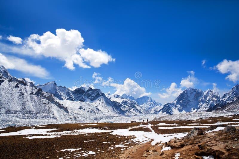 Nationalpark Sagarmatha, Nepal Himalaja lizenzfreie stockbilder