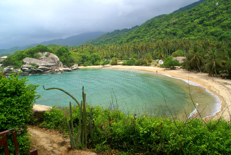 Nationalpark am taganga kolumbien stockbilder