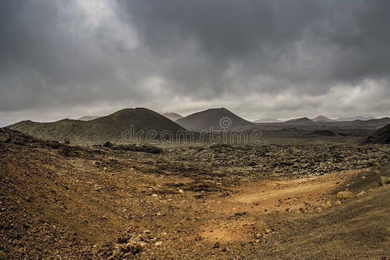 Nationalpark Timanfaya - Lanzarote stockbild