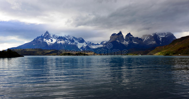 Nationalpark Torres Del Paine, Patagonia, Chile stockbilder