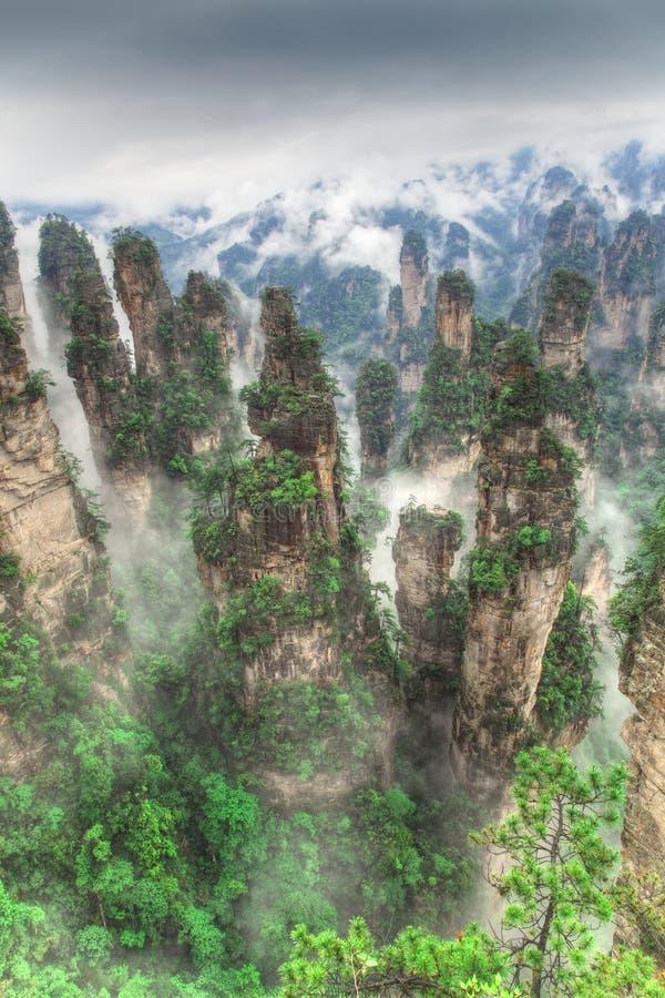 nationalpark zhangjiajie för avatarhallelujahmontering royaltyfri foto