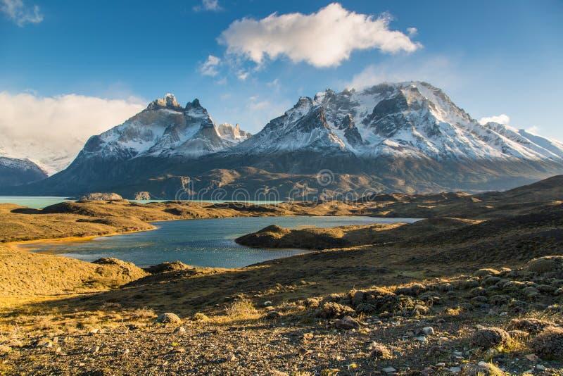 Nationalparken Torres del Paine, Patagonia, Chile royaltyfria foton