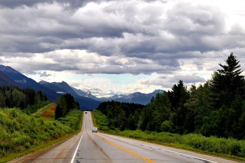Nationalparklandschaft des Jaspisses in Kanada-felsigem MoU stockbild
