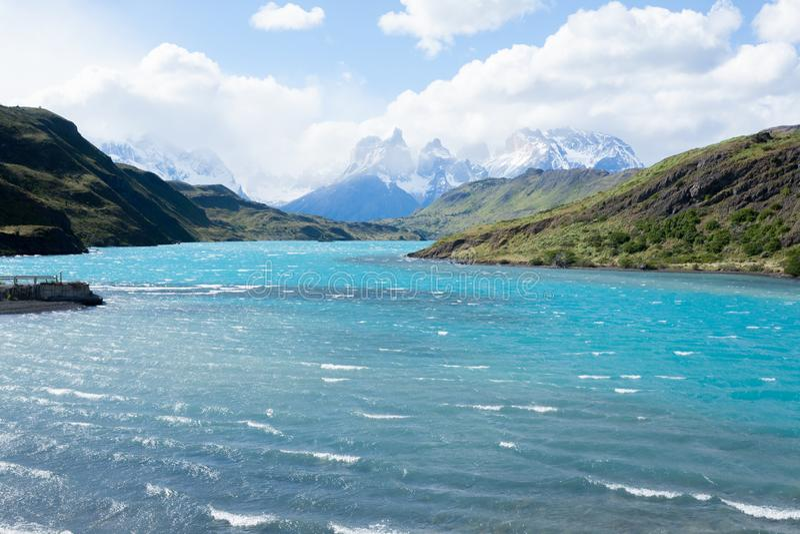 Nationalparklandschaft Torres Del Paine, Chile stockfotos