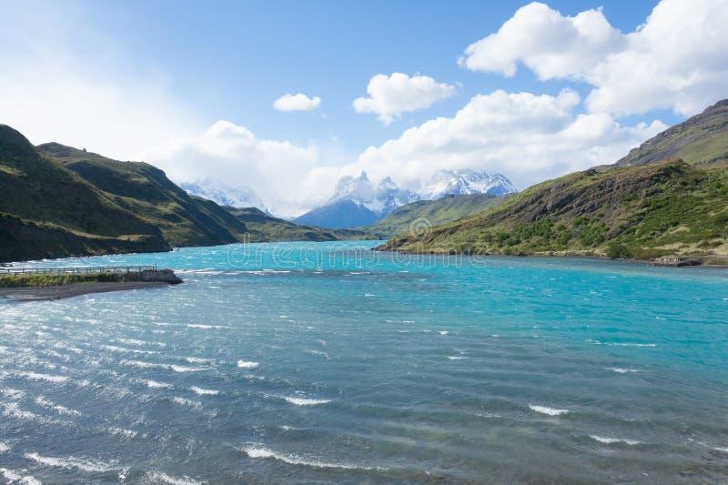 Nationalparklandschaft Torres Del Paine, Chile stockfotografie