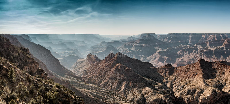 Nationalparkpanorama Grand Canyon s stockbilder