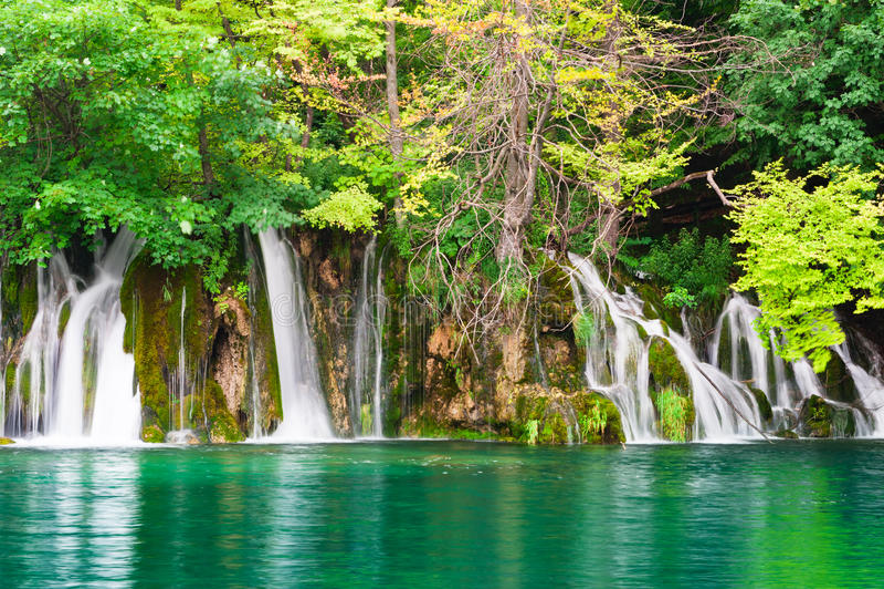 nationalparkplitvicevattenfall royaltyfria bilder