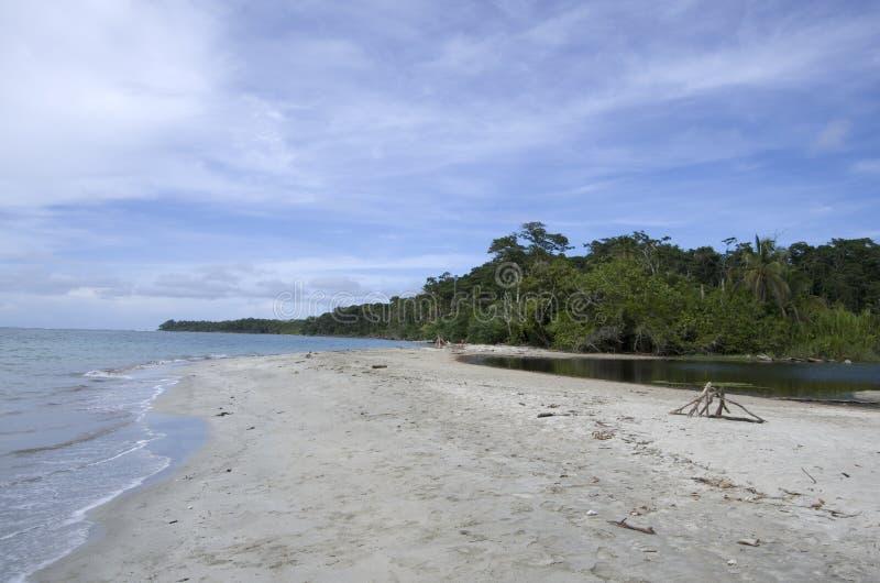 Nationalparkstrand Cahuita, Costa Rica, karibisches Meer stockfotografie