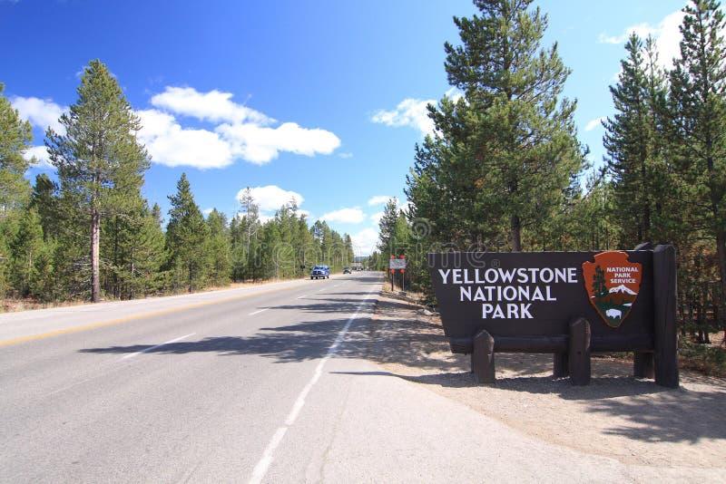 nationalparktecken yellowstone royaltyfria foton