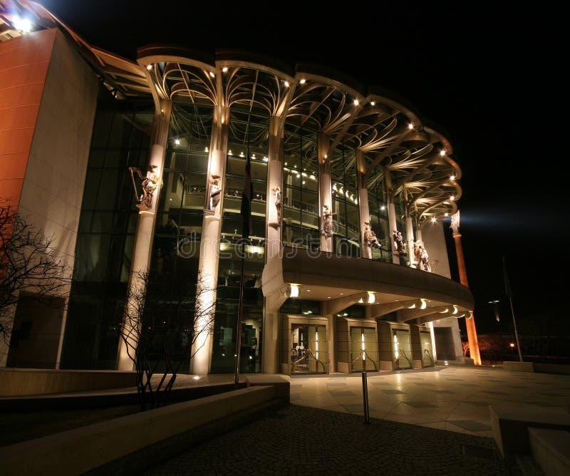 Nationaltheater Budapest stockbild