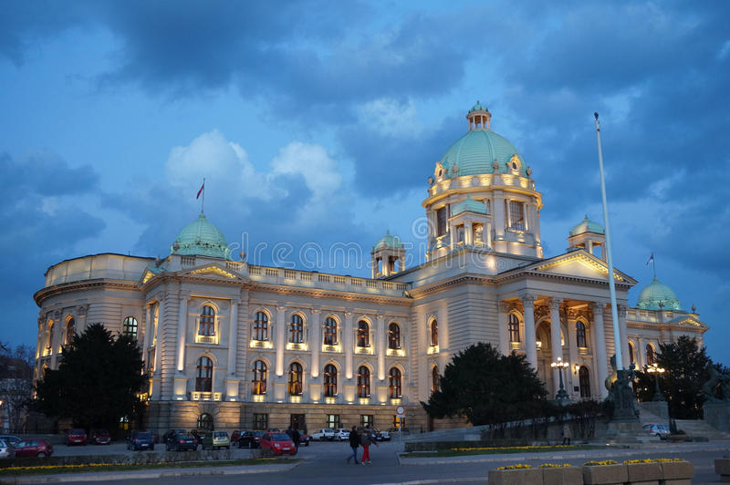 Nationalversammlung von Serbien, Belgrad stockbilder