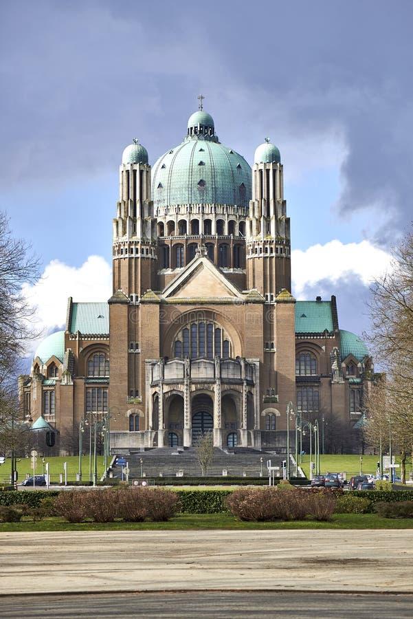 Nationell basilika av sakral hjärta i Bryssel royaltyfri foto