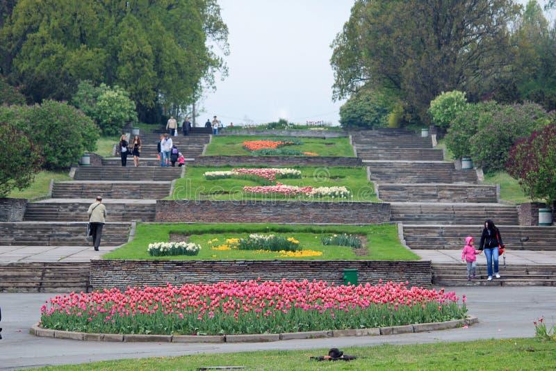 Nationell botanisk trädgård, Kiev arkivbild