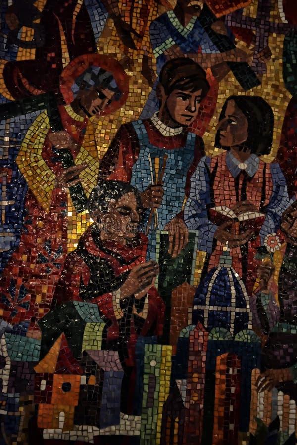 Nationell domkyrkawashington mosaik royaltyfri foto
