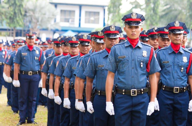 nationell filippinsk polis royaltyfria bilder