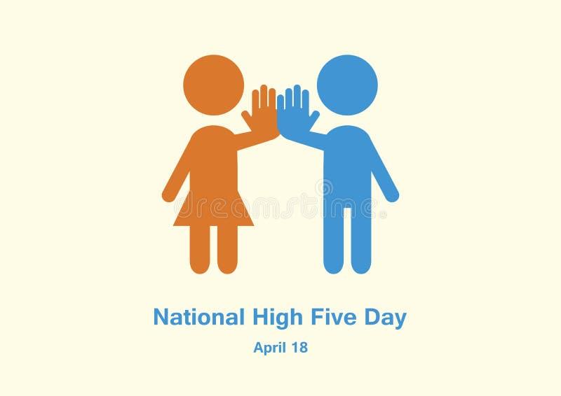 Nationell h?jdpunkt fem - dagvektor vektor illustrationer