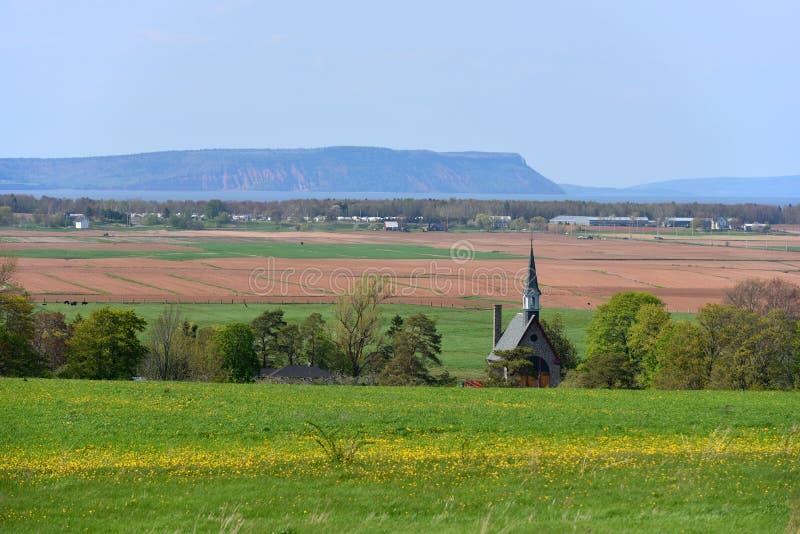 Nationell historisk plats för tusen dollar-Pré, Wolfville, NS, Kanada arkivfoton