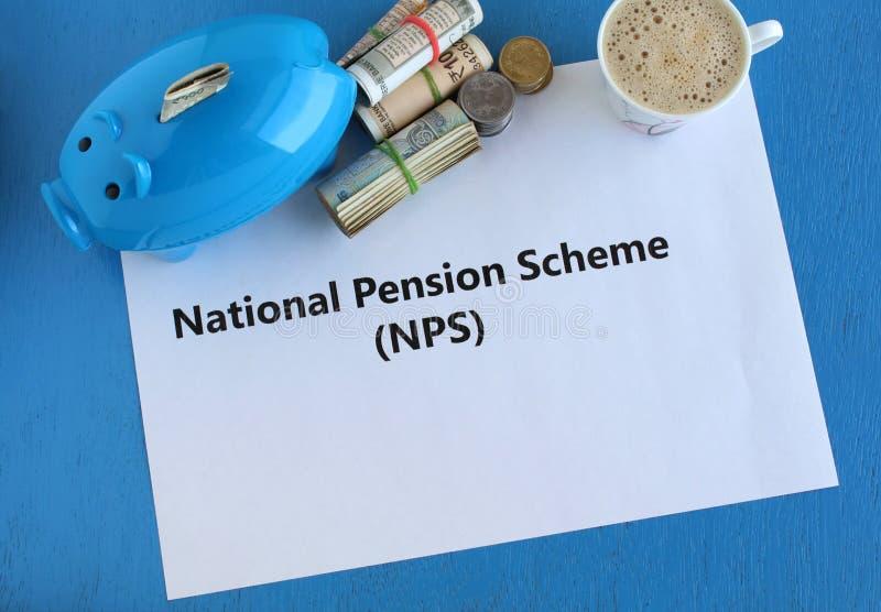 Nationell investering för pensionssystem NPS för inkomst efter avgång fotografering för bildbyråer