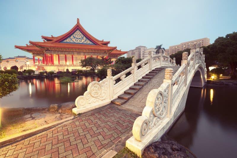 Nationell konserthall, Taipei - Taiwan. royaltyfria foton