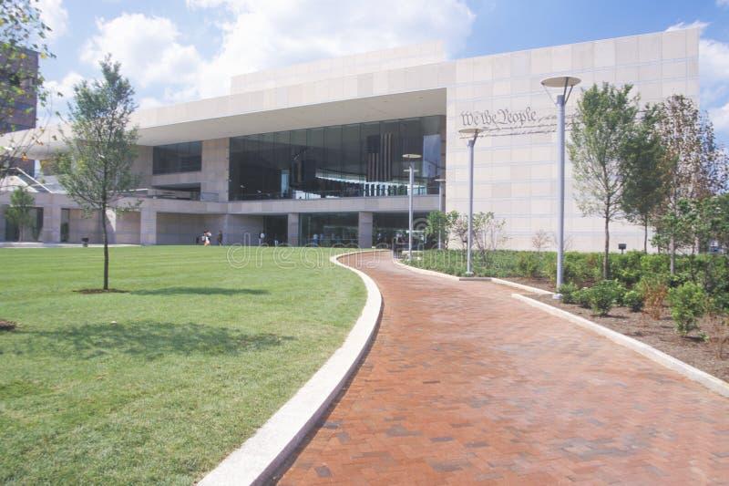 Nationell konstitutionmitt för U S Konstitution på självständighetgallerian, Philadelphia, Pennsylvania arkivbild