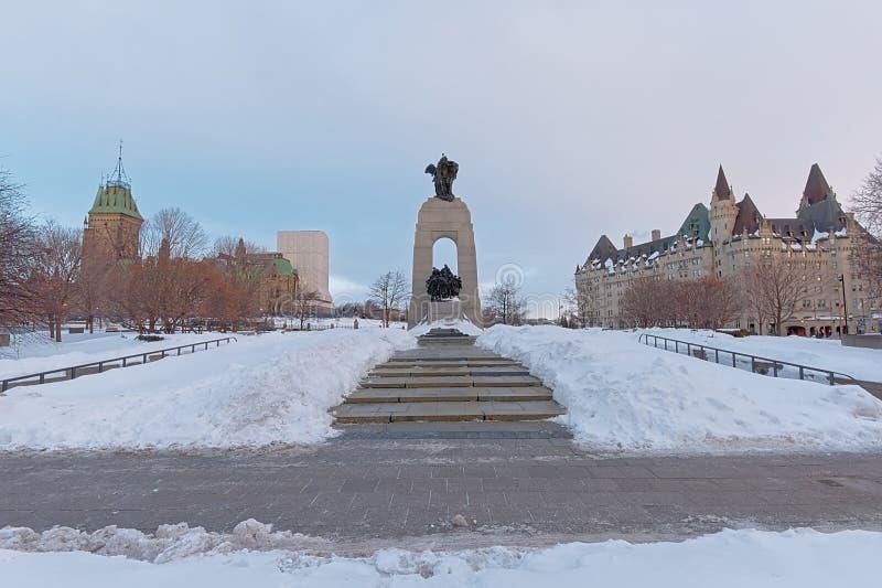 Nationell krigminnesmärke, Ottawa, Kanada arkivbilder