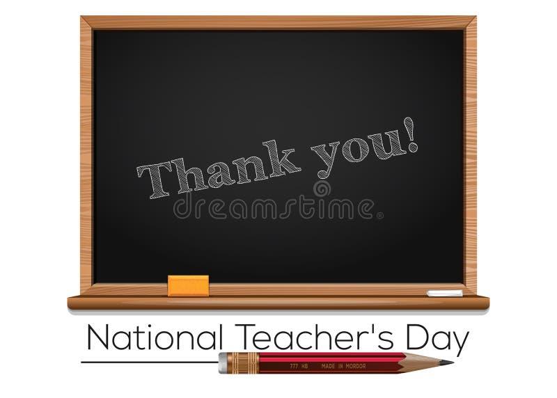 Nationell läraredagdesign stock illustrationer