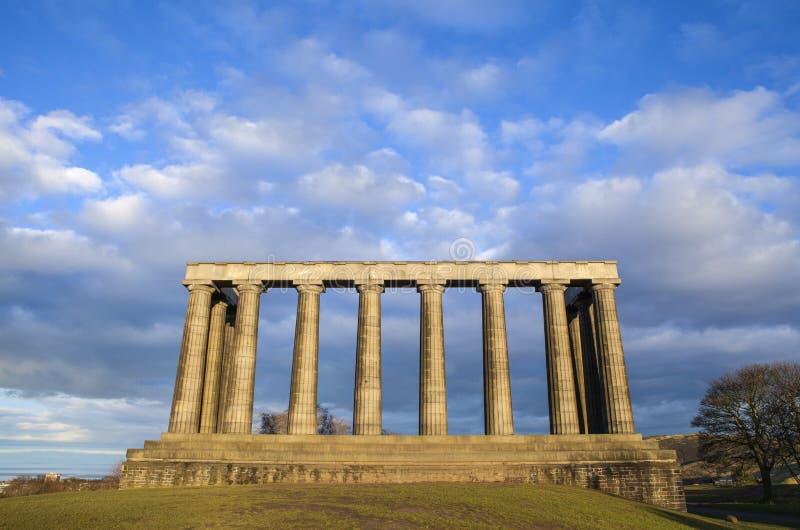 Nationell monument av Skottland i Edinburg arkivbilder