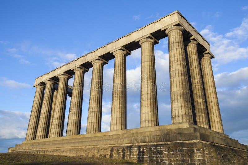 Nationell monument av Skottland i Edinburg fotografering för bildbyråer