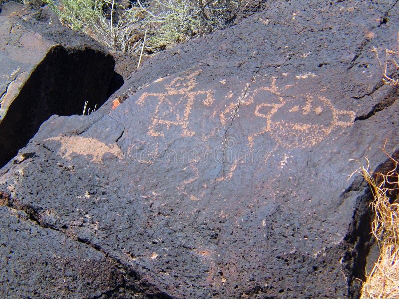 Nationell monument för Petroglyph i nytt - Mexiko arkivbild