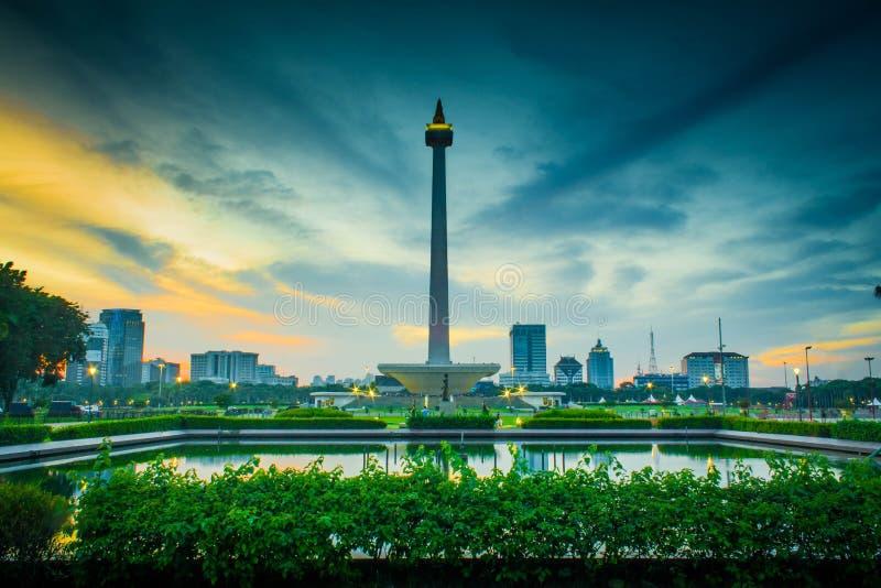 Nationell monument i Jakarta royaltyfri bild