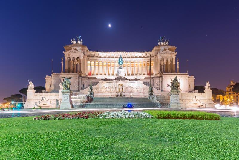 Nationell monument till den Victor Emmanuel II Altare dellaen Patria, Rome, Italien arkivfoto