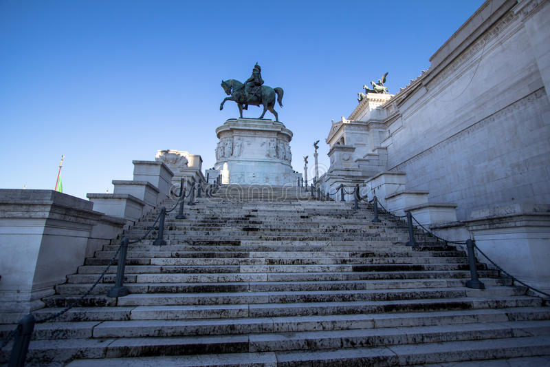 Nationell monument till Vittorio Emanuele II Victor Emmanuel II royaltyfria bilder