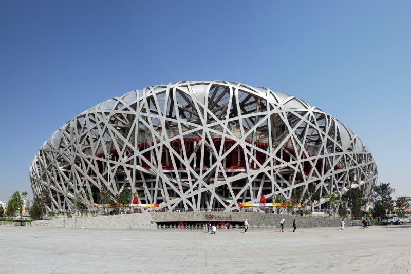 nationell olympic stadion för porslin royaltyfria bilder