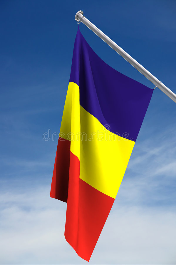 nationell romanian för flagga royaltyfri illustrationer