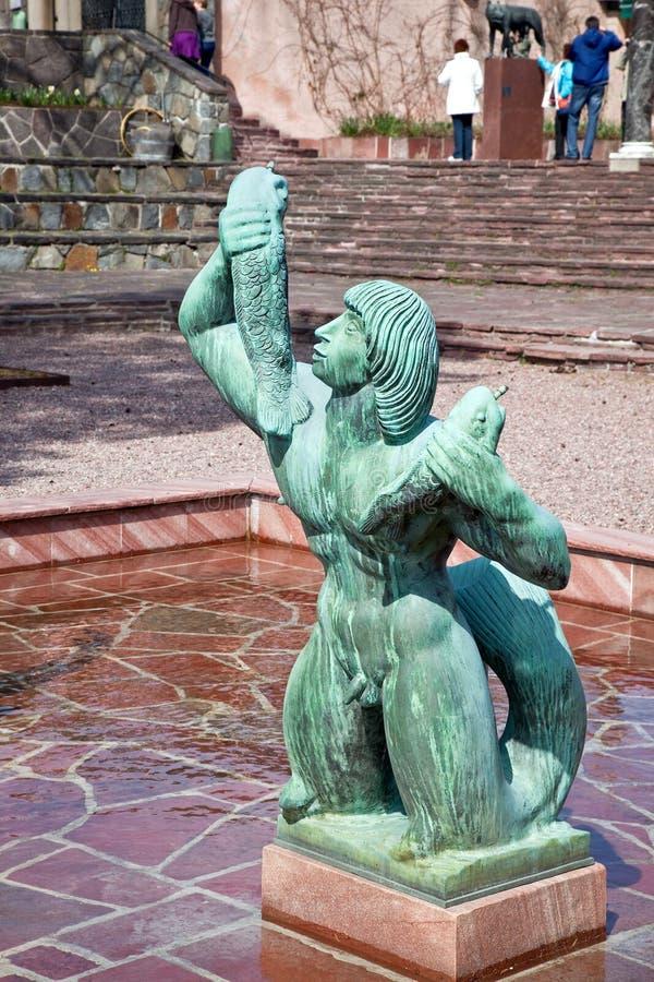 Nationell skulptur parkerar i Stockholm royaltyfri fotografi