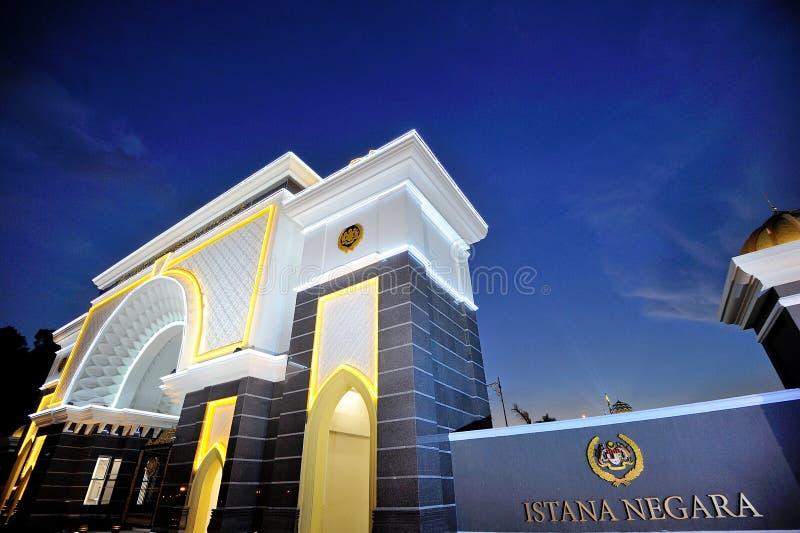 Nationell slott eller Istanaen Negara fotografering för bildbyråer