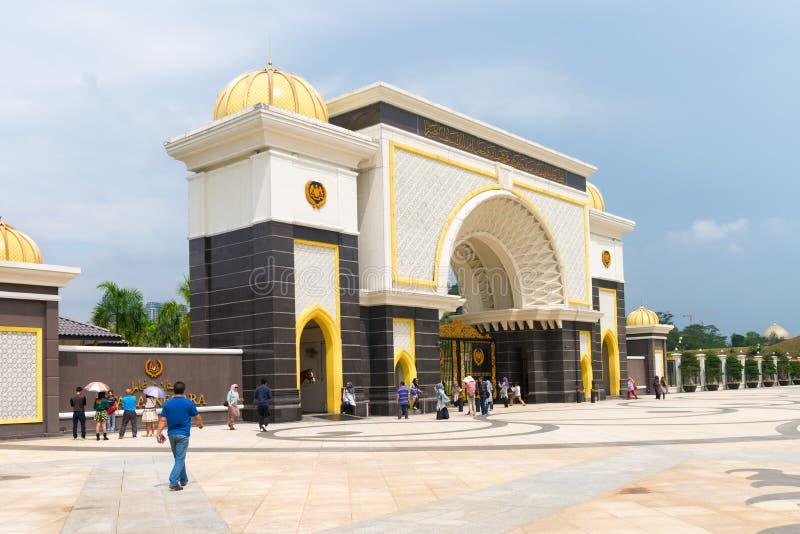 Nationell slott (Istana Negara) i Kuala Lumpur Malasia arkivfoton