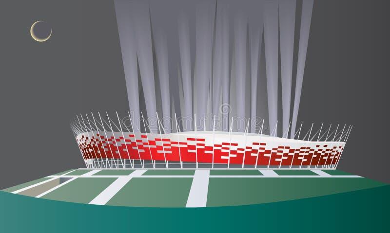 nationell stadion vektor illustrationer