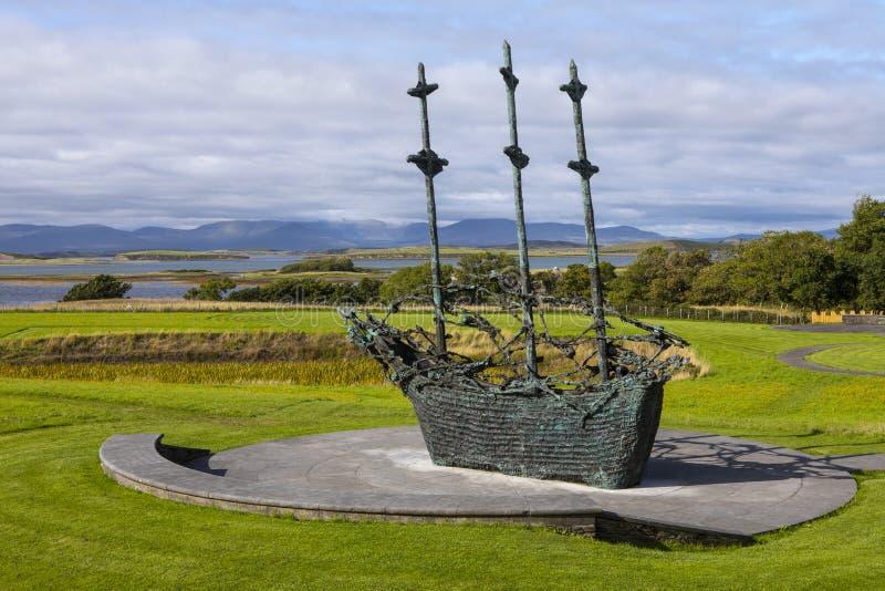 Nationell svältmonument i Irland fotografering för bildbyråer