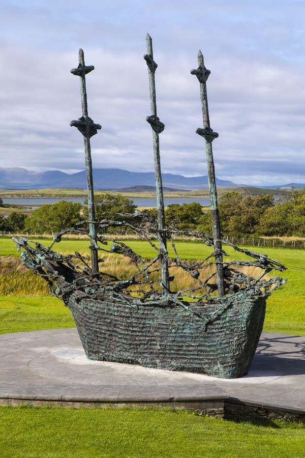 Nationell svältmonument i Irland royaltyfri fotografi
