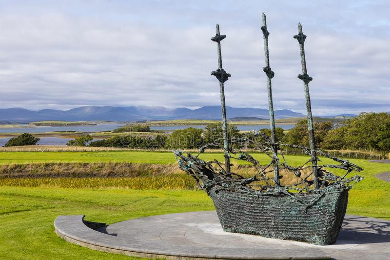 Nationell svältmonument i Irland royaltyfri foto